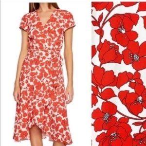 Bardot Fiesta Floral Faux Wrap Dress Size 4